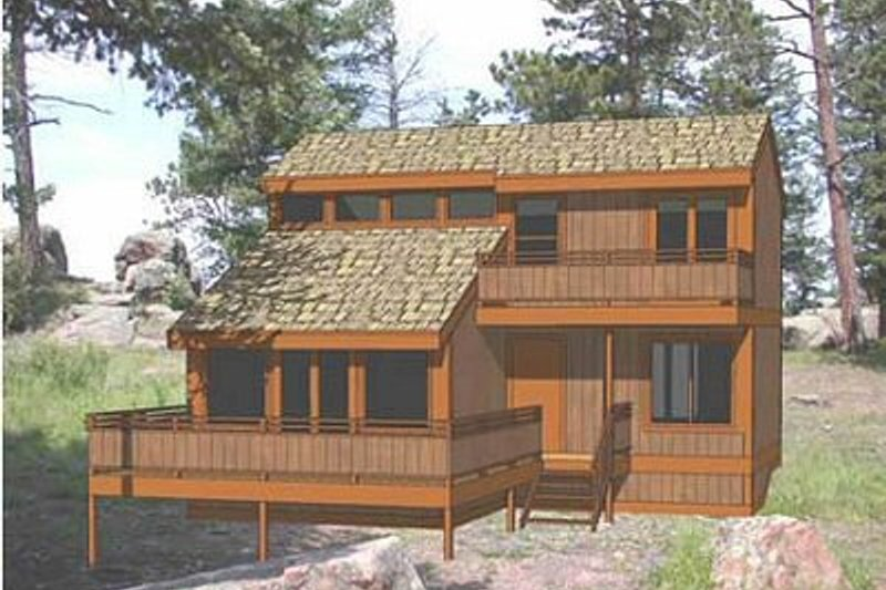 Modern Style House Plan - 3 Beds 2 Baths 1008 Sq/Ft Plan #116-103 Exterior - Front Elevation