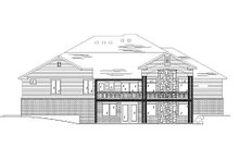House Plan Design - European Exterior - Rear Elevation Plan #5-368