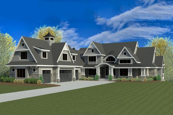 Craftsman Exterior - Front Elevation Plan #920-42