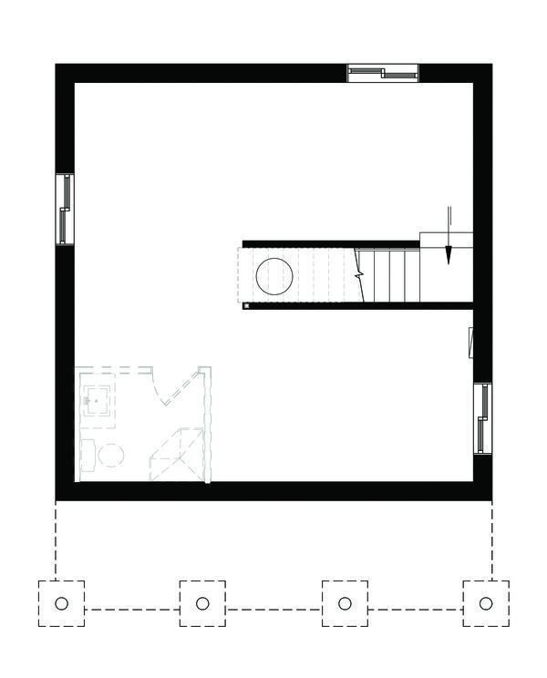 Cottage Floor Plan - Lower Floor Plan #23-2300