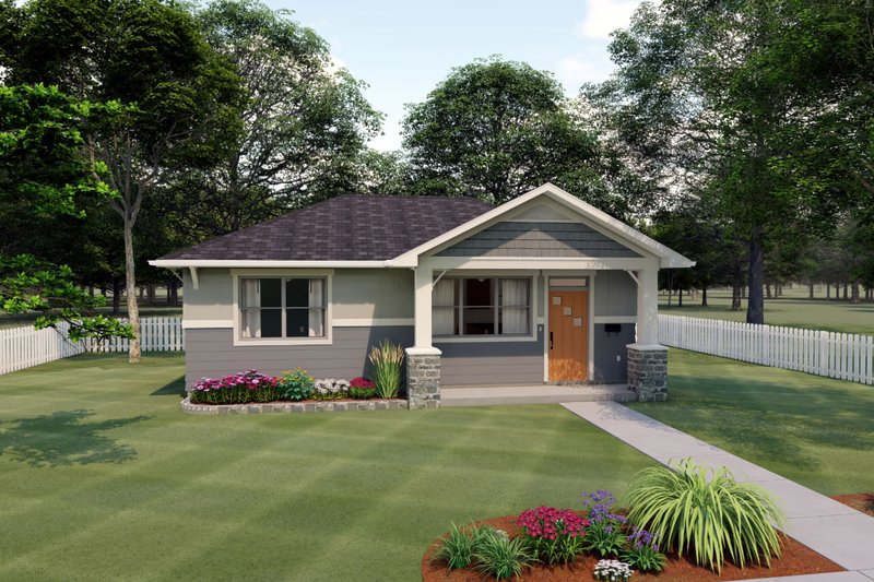 Architectural House Design - Bungalow Exterior - Front Elevation Plan #126-207