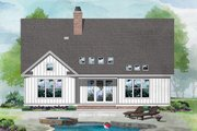 Country Style House Plan - 4 Beds 3 Baths 2479 Sq/Ft Plan #929-1081 Exterior - Rear Elevation