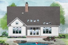Country Exterior - Rear Elevation Plan #929-1081