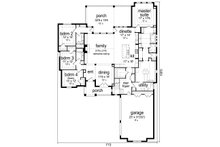 Traditional Floor Plan - Main Floor Plan Plan #84-603