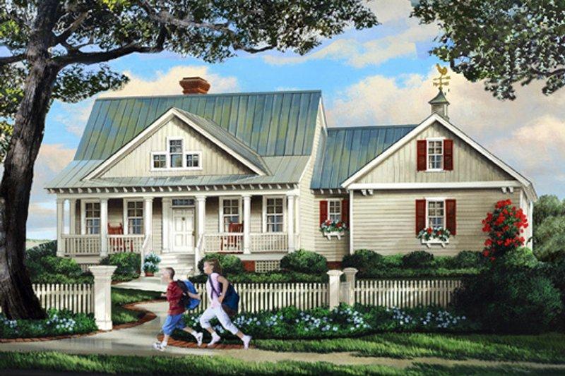 Dream House Plan - Farmhouse Exterior - Front Elevation Plan #137-266