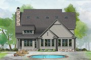 Craftsman Style House Plan - 5 Beds 4.5 Baths 3347 Sq/Ft Plan #929-1031 Exterior - Rear Elevation