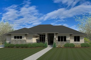 Architectural House Design - Contemporary Exterior - Front Elevation Plan #920-93