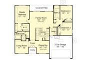 Mediterranean Style House Plan - 3 Beds 2 Baths 1560 Sq/Ft Plan #417-840 Floor Plan - Main Floor