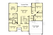 Mediterranean Style House Plan - 3 Beds 2 Baths 1560 Sq/Ft Plan #417-840