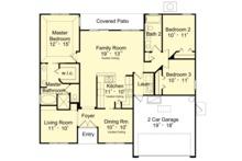 Mediterranean Floor Plan - Main Floor Plan Plan #417-840