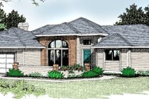 Architectural House Design - Traditional Exterior - Front Elevation Plan #92-108