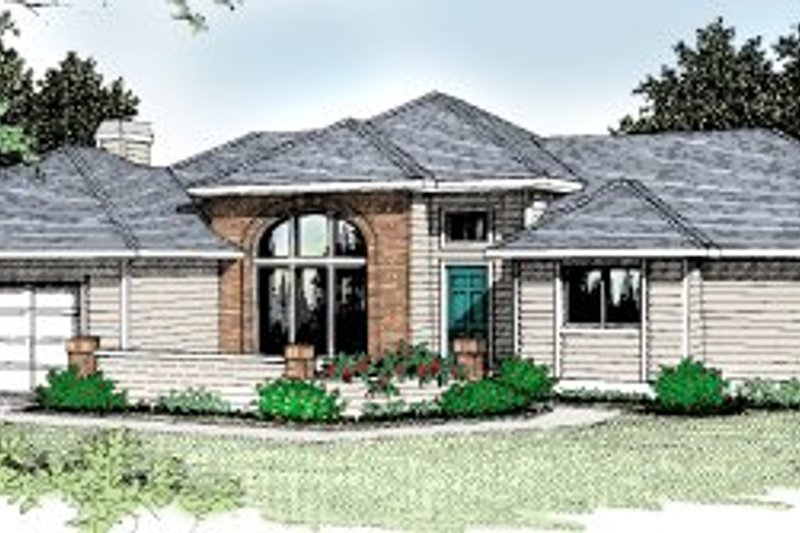 Traditional Exterior - Front Elevation Plan #92-108 - Houseplans.com