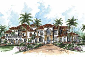 Dream House Plan - Mediterranean Exterior - Front Elevation Plan #1017-77