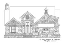 European Exterior - Front Elevation Plan #929-830