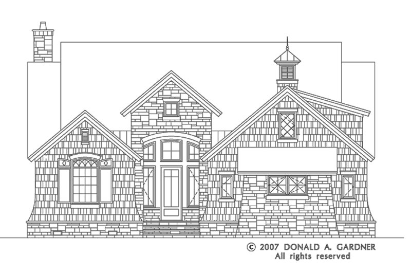 European Exterior - Front Elevation Plan #929-830 - Houseplans.com
