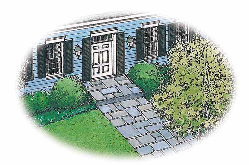 Colonial Exterior - Front Elevation Plan #1040-1 - Houseplans.com