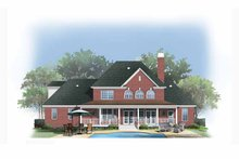 Country Exterior - Rear Elevation Plan #929-886