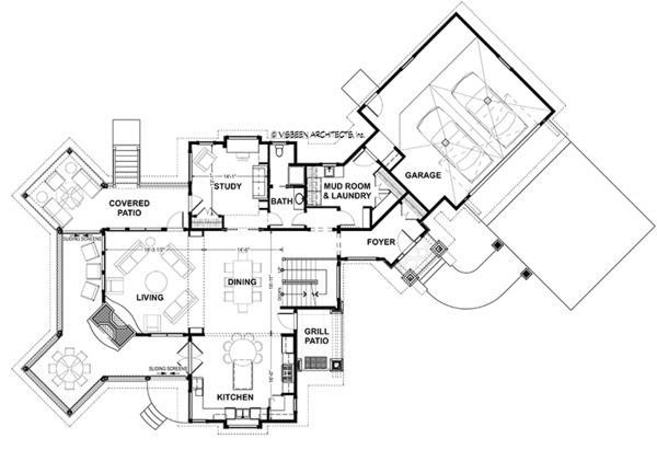 Country Floor Plan - Main Floor Plan Plan #928-290