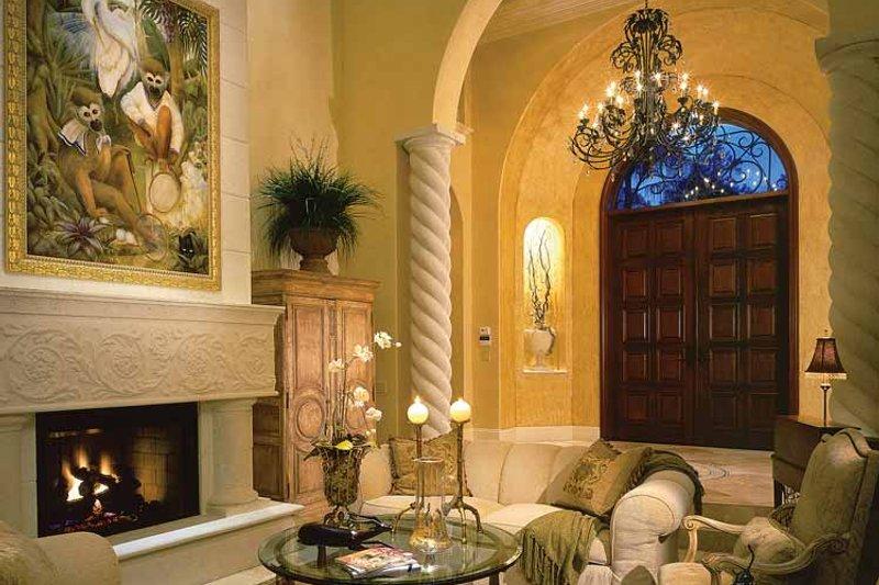 Mediterranean Interior - Family Room Plan #930-34 - Houseplans.com