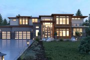 Contemporary Style House Plan - 5 Beds 5.5 Baths 6182 Sq/Ft Plan #1066-28 Exterior - Front Elevation