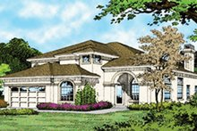 Home Plan - Mediterranean Exterior - Front Elevation Plan #417-550