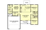 Ranch Style House Plan - 3 Beds 2 Baths 1232 Sq/Ft Plan #430-181 Floor Plan - Main Floor Plan