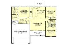 Ranch Floor Plan - Main Floor Plan Plan #430-181