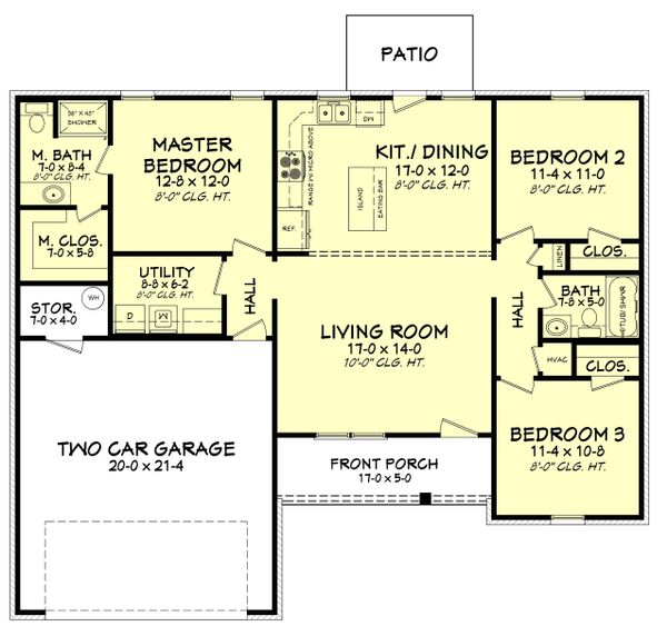 Ranch Floor Plan - Main Floor Plan Plan #430-181