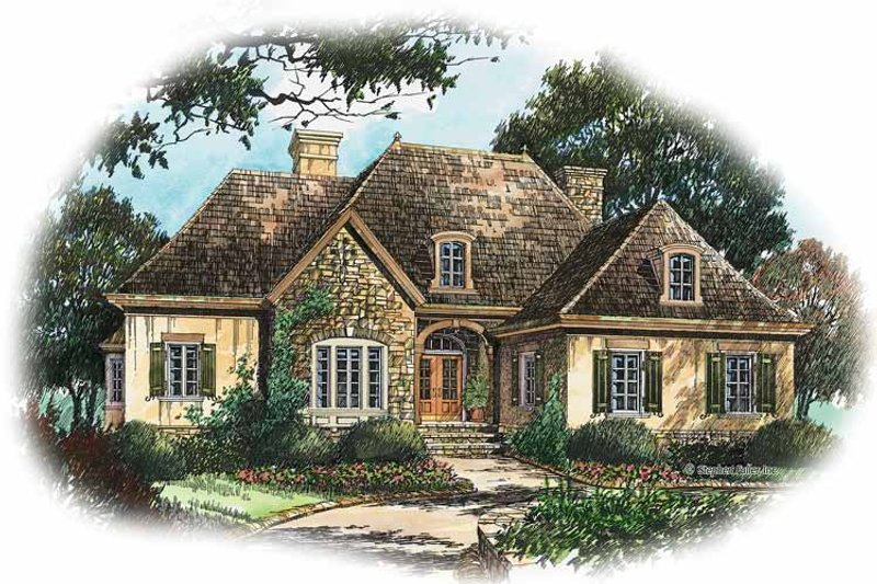 House Plan Design - Country Exterior - Front Elevation Plan #429-207