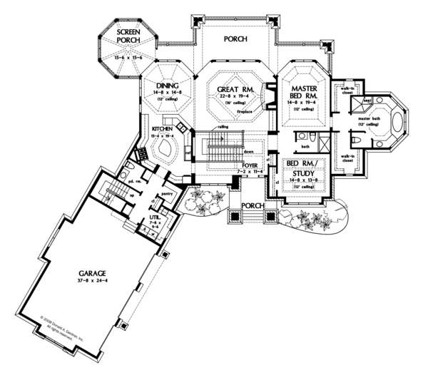 European Floor Plan - Main Floor Plan Plan #929-896