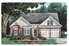 Ranch Exterior - Front Elevation Plan #927-180
