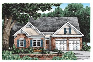 Architectural House Design - Ranch Exterior - Front Elevation Plan #927-180