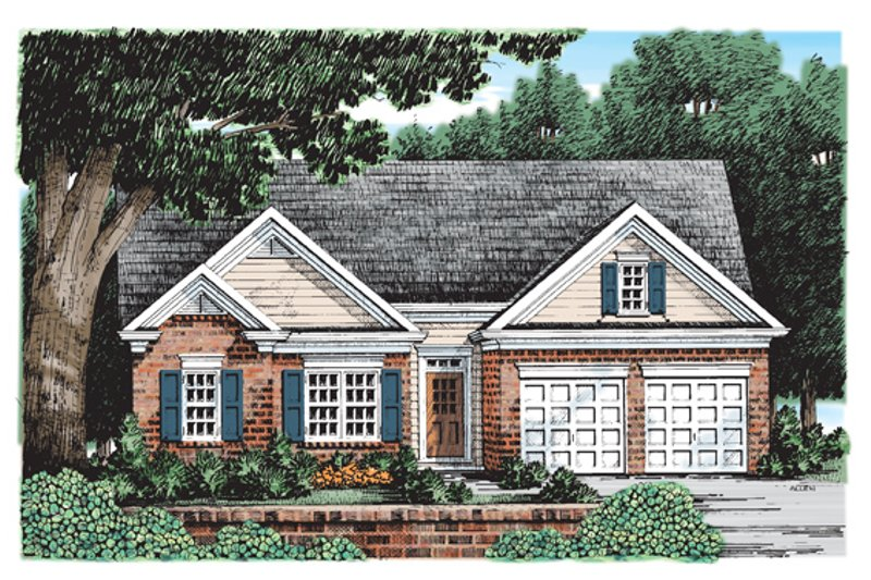 Home Plan - Ranch Exterior - Front Elevation Plan #927-180