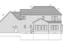 House Plan Design - Colonial Exterior - Rear Elevation Plan #1010-90