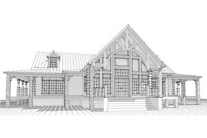 Craftsman Exterior - Front Elevation Plan #63-342