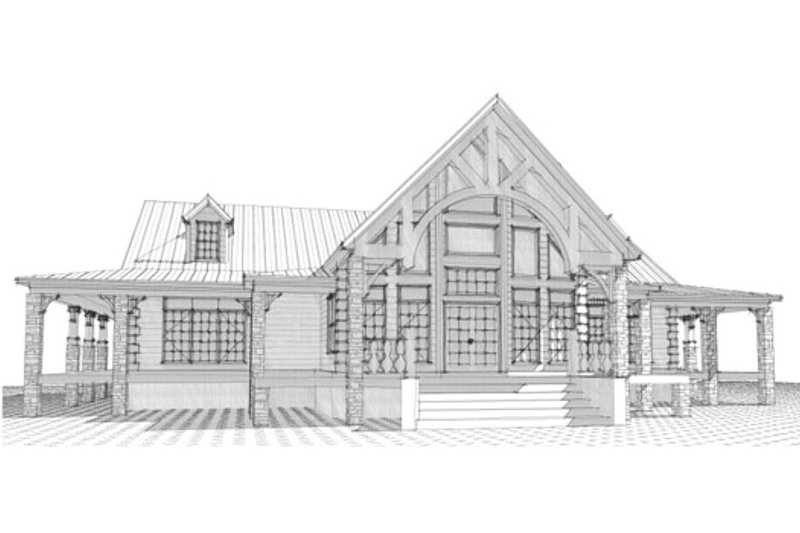 Craftsman Style House Plan - 2 Beds 2 Baths 3360 Sq/Ft Plan #63-342 Exterior - Front Elevation
