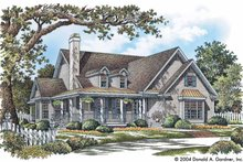 Country Exterior - Front Elevation Plan #929-735