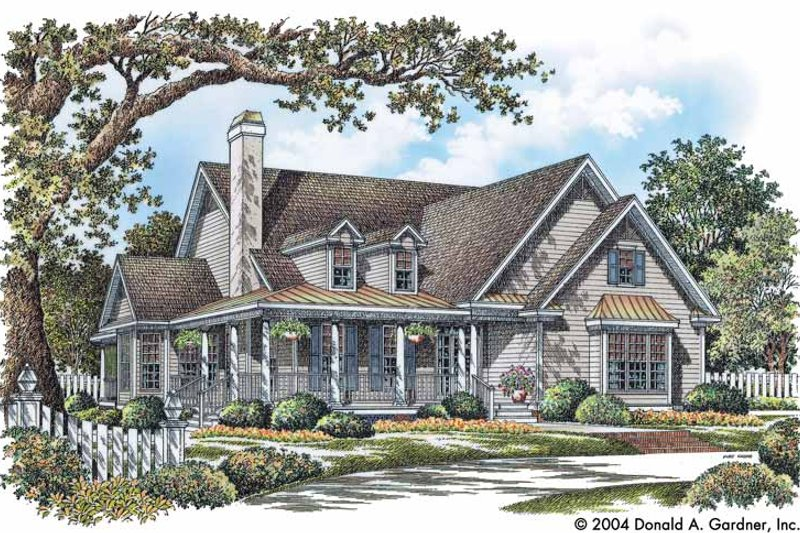 Dream House Plan - Country Exterior - Front Elevation Plan #929-735