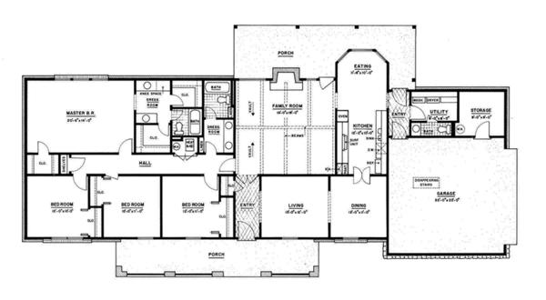 House Plan Design - Classical Floor Plan - Main Floor Plan #36-566