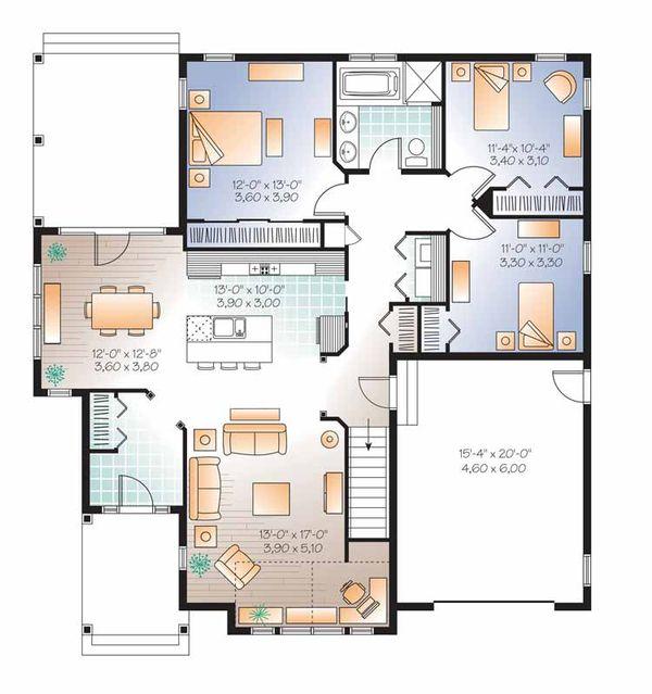 Country Floor Plan - Main Floor Plan Plan #23-2529