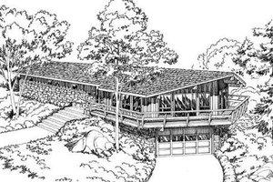 Modern Exterior - Front Elevation Plan #312-172