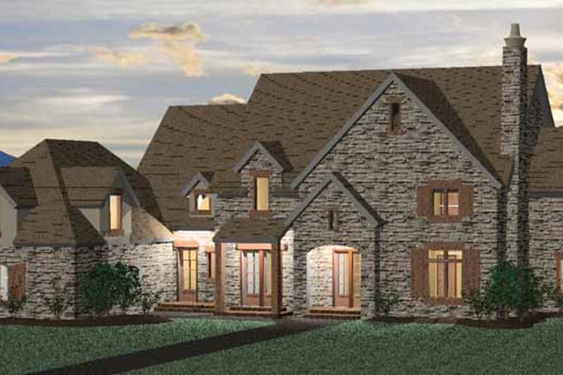 Country Exterior - Front Elevation Plan #937-14