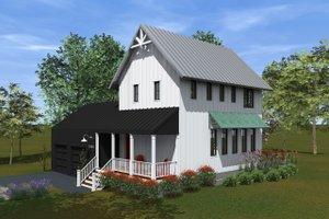 Farmhouse Exterior - Covered Porch Plan #933-8