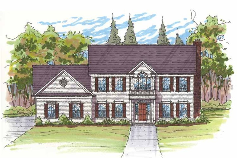 Traditional Exterior - Front Elevation Plan #435-24 - Houseplans.com