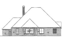 European Exterior - Rear Elevation Plan #310-966