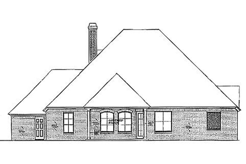 European Exterior - Rear Elevation Plan #310-966 - Houseplans.com