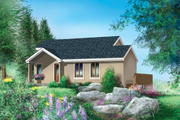 Country Style House Plan - 1 Beds 1 Baths 1050 Sq/Ft Plan #25-4406 Exterior - Front Elevation