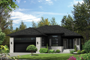 Contemporary Style House Plan - 3 Beds 2 Baths 1588 Sq/Ft Plan #25-4324