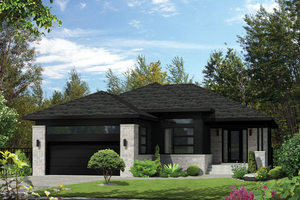 Contemporary Exterior - Front Elevation Plan #25-4324
