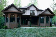 Traditional Style House Plan - 4 Beds 4 Baths 2470 Sq/Ft Plan #56-540 Exterior - Front Elevation